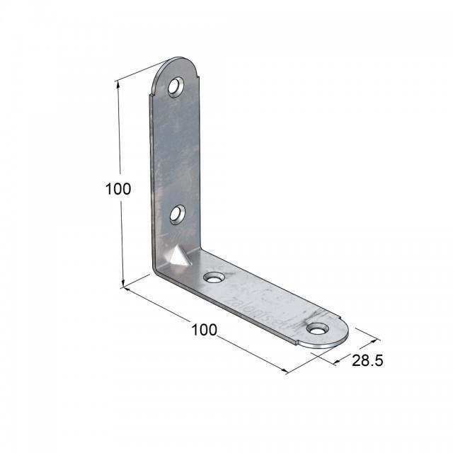 METAL CORNER 100x100x28 / GALVANIZED